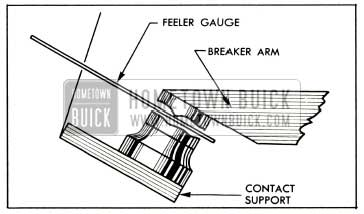 1953 Buick Incorrect Point Opening Obtained with Feeler Gauge