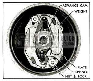 1953 Buick Installation of Advance Weights, Cam, Springs and Plate