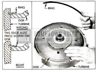 1953 Buick Installing Disk Retaining Ring
