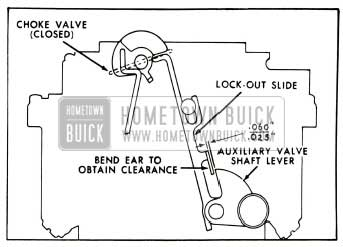 1953 Buick Lock-Out Slide Clearance With Choke Valve Closed