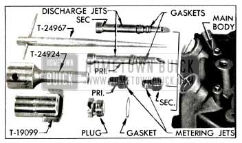 1953 Buick Main Metering and Discharge Jets and Tools