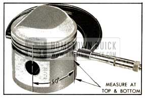 1953 Buick Measuring Piston with Micrometer