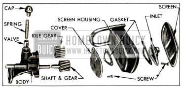 1953 Buick Oil Pump and Screen Exploded View