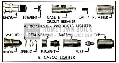 1953 Buick Optional Types of Cigar Lighter