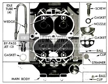 1953 Buick Parts in Main 4-Barrel Carburetor Body