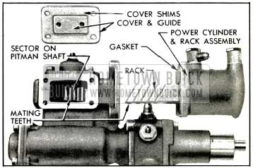 1953 Buick Position of Rack and Sector for Installation of Power Cylinder