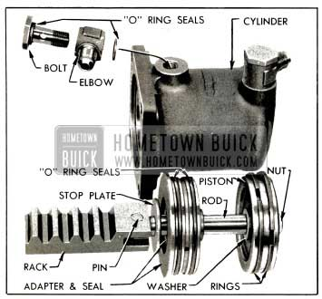 1953 Buick Power Cylinder and Rack Parts