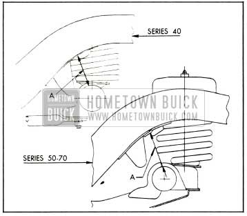 1953 Buick Rear Spring Trim Dimension