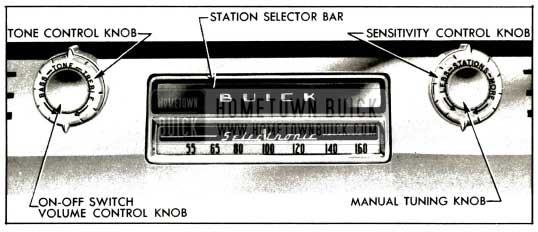 1953 Buick Receiver Controls-Selectronic Rodio