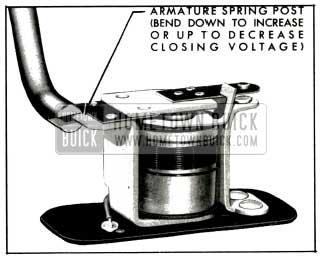 1953 Buick Relay Closing Voltage Adjustment