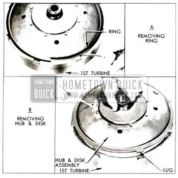 1953 Buick Removing Disk and Hub Assembly