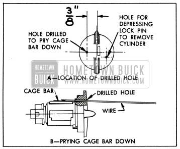 1953 Buick Removing Lock Cylinder having a Lose Cage Bar