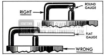 1953 Buick Right and Wrong Spark Plug Gauges