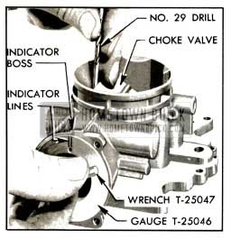 1953 Buick Setting Choke Valve and Vacuum Piston