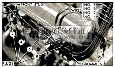 1953 Buick Spark Plug Wires-Left Bank