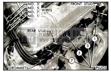 1953 Buick Spark Plug Wires-Right Bank