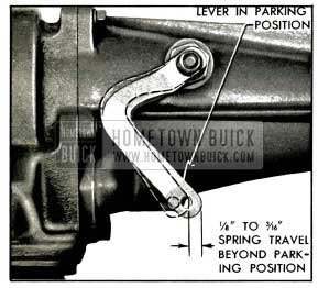 1953 Buick Spring Travel at Shift Lever