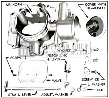 1953 Buick Stromberg Choke Control Parts