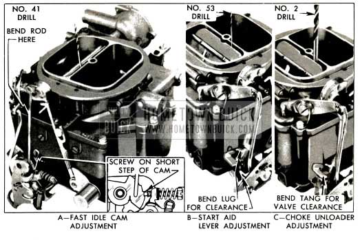 1953 Buick Stromberg Fast Idle Cam and Choke Unloader Adjustments