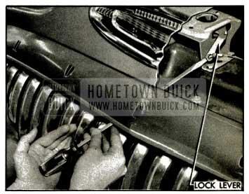 1953 Buick Unlocking Hood with Screwdriver