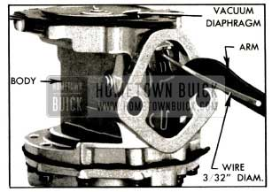 1953 Buick Vacuum Diaphragm Flexing Tool in Place