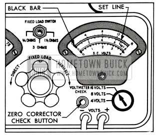 1953 Buick Voltmeter Calibration-Sun Model VAT