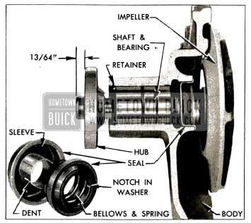 1953 Buick Water Pump Parts