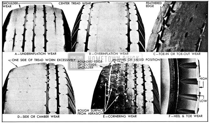 1954 Buick Abnormal Tire Tread Wear Patterns