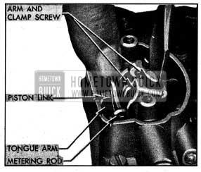 1954 Buick Adjusting Metering Rods