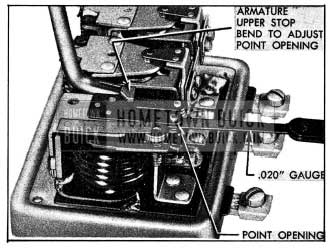 1954 Buick Adjustment of Cutout Relay Contact Point Openings