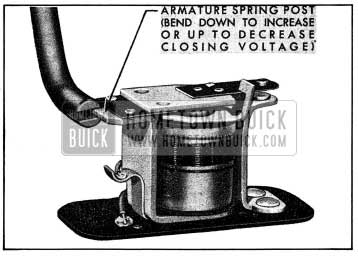 1954 Buick Adjustment of Horn Relay Closing Voltage