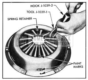 1954 Buick Attaching Spring Retainer to Cover