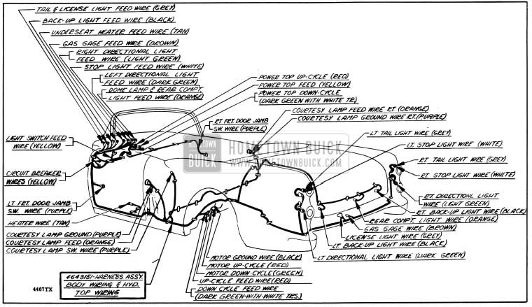 1954 buick wiring diagrams hometown buick buick wiring diagram, fully laminated