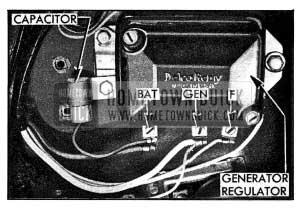 1954 Buick Capacitor Mounted on Generator Regulator