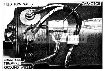 1954 Buick Capacitor Mounted on Generator