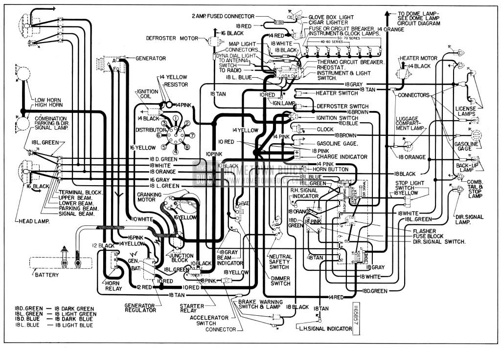 Buick Chassis Wiring Diagram All Series Dynaflow on buick wiring diagrams
