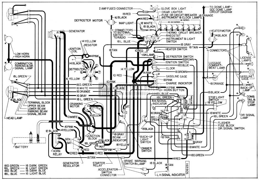 1956 Oldsmobile Wiring Diagram
