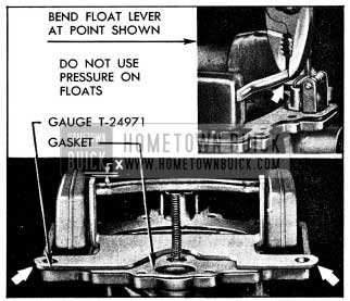 1954 Buick Checking and Adjusting Float Height