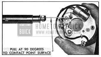 1954 Buick Checking Breaker Arm Spring Tension