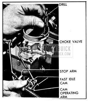1954 Buick Checking Carter Choke Unloader Adjustment