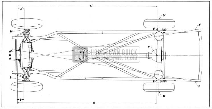 1954 Buick Checking Points for Frame and Suspension Alignment