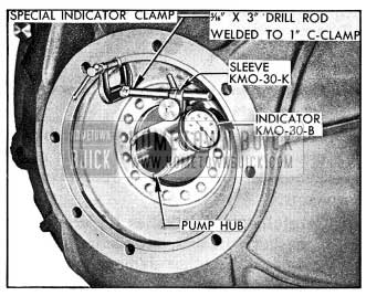 1954 Buick Checking Run-Out of Converter Pump Hub