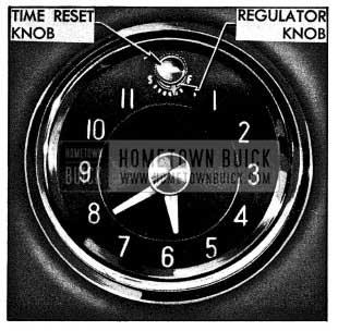 1954 Buick Clock Time Reset and Regulator Knobs