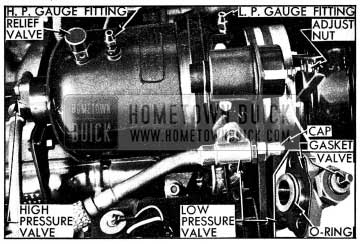 1954 Buick Compressor Line Connections