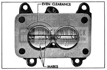 1954 Buick Correct Position of Throttle Valves