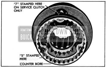 1954 Buick Counterbore and Marks on Second Speed End of Clutch