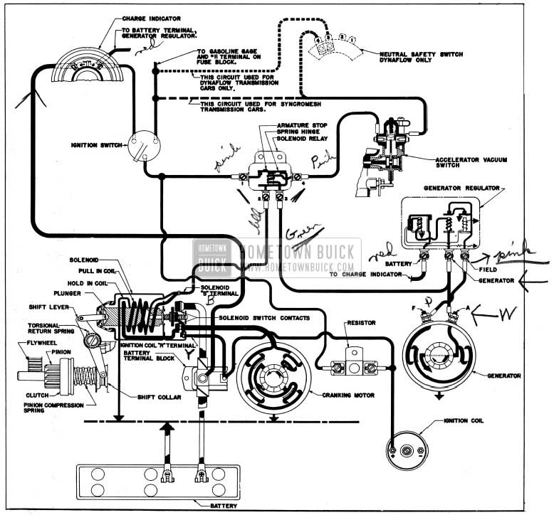 1954 Buick Cranking System Circuits