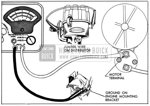 1954 Buick Cranking Voltage Test Connections