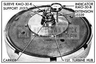 1954 Buick Dial Indicator on Turbine Assembly