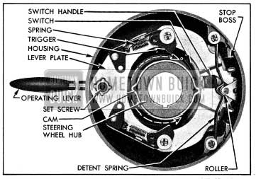1954 Buick Direction Signal Switch in Off Position